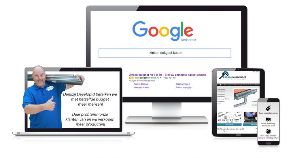 Responsive web design concept in laptop tablet computer smartpho